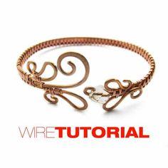 Wire cuff bracelet. $6.00, via Etsy.