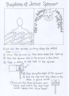 Flame: Creative Children's Ministry: Printable Baptism of Jesus Spinner