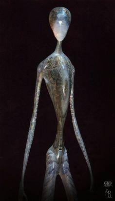 Aliens from artificial intelligence Aliens And Ufos, Ancient Aliens, Alien Creatures, Fantasy Creatures, Cthulhu, Design Alien, Alien Character, Alien Concept Art, Alien Races
