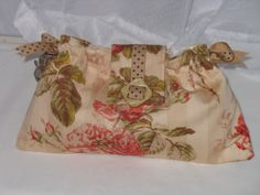 Peach Blush Stripe Floral Ribbon Clutch for by fancibags on Etsy, $30.00