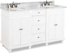 Cabinet Boxes - Vanity Cabinets - Page 15 - Cabinet Now White Vanity, Diy Vanity, Cabinet Boxes, Vanity Cabinet, Carrara Marble, Marble Top, Large Baths, Pedestal Sink, Half Baths