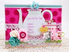 Created using Join Me For Tea and You're Invited stamp sets from www.papersweeties.com!  Designed by Debbie Marcinkiewicz.