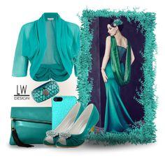 """""""Feel The Teal"""" by kashmier ❤ liked on Polyvore featuring beauty, Alexis Mabille, Damsel in a Dress, Incipio and Lanvin"""