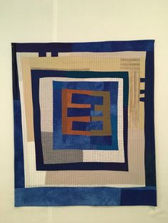 """Wendy Hook 2018 """"Mitosis II"""" x Hand dyed cotton Quilt Modern, Contemporary Quilts, Log Cabin Quilts, Log Cabins, Mitosis, Medallion Quilt, Quilt Art, Small Quilts, Textile Art"""