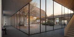 Neubau eines Eingangs- und Ausstellungsgebäudes für das Freilichtmuseum Molfsee – Landesmuseum für Volkskunde 1. Preis: Innenperspektive, © ppp, breimann&brunn, on3studio