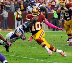 Redskins quarterback Robert Griffin...