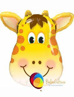 Balão Girafa Cabeça. Tamanho: 14 polegadas e SS www.balaocultura.com.br