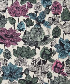 Asaka D Tana Lawn | Liberty Art Fabrics | Award-winning paper cutting artist Hina Aoyama collaborated with the Liberty Design Team to create the Asaka fabric design, incorporating her intricate hand-cut floral motifs