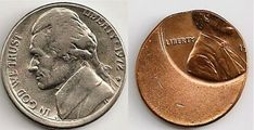Off-Center Error Coins vs. Misaligned Die Error Coins - See examples of off-center coins + Off-center coin values by denomination. Wheat Penny Value, Rare Coin Values, Old Coins Value, Old Coins Worth Money, Penny Values, Rare Pennies, Valuable Coins, Coin Prices, Coin Art