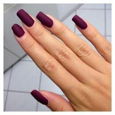 Nail polish: nails burgundy burgundy dark acrylic nails nail art matte... ❤ liked on Polyvore featuring beauty products, nail care, nail polish, nails, sticker nail polish and art nail polish