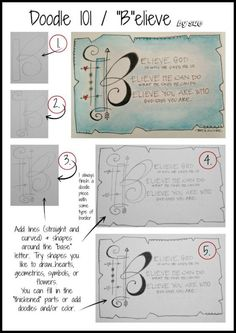 """Doodle 101/ """"B""""elieve/ Sue Carroll"""