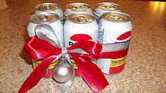 White elephant idea- His & hers 6 pack. Half Pepsi, half Diet Coke