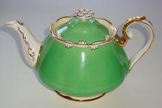 Royal Albert Green with Scroll Medium Teapot Pattern 1959