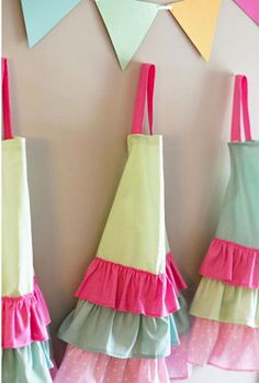 Colorful Ruffled Aprons {Baking Party}