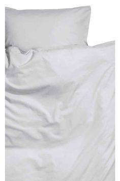 Bavlnená posteľná súprava - svetlosivá - HOME | H&M SK