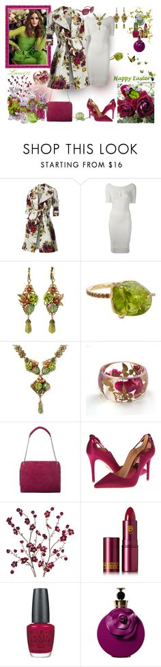 """""""easter"""" by lumi-21 ❤ liked on Polyvore featuring Hobbs, Hervé Léger, Sweet Romance, Sharon Khazzam, Urban Decay, Rochas, Badgley Mischka, Cost Plus World Market, Lipstick Queen and OPI"""