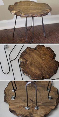 Handmade Home Decor Elven Decor Repurposed Tree Slab Hocker