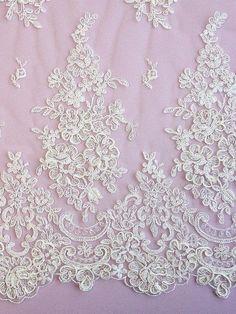 Floral Motif  BELINDA Ivory Lace by allysonjames on Etsy