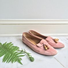 J.crew Pink Suede Loafers J.crew Pink Suede Loafers, size 8.5, leather lining, wooden tassels, used-cleaned almost to perfection, minimal wear on top J. Crew Shoes Flats & Loafers