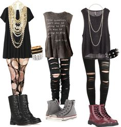 Typical Effy inspired outfits (season 3) by chelmoxo featuring lace up bootsMonki long dress, $48 / White tank top / H M top, $14 / Accessorize Agoraphobix double layered tattered & torn tights fishnet… / Black jeans / Black legging / Converse shoes / Soda combat boots / Lace up boots / Jon Richard pearl jewelry, $43 / Miss Selfridge pearl jewelry / Pearl jewelry, $22 / Gold jewelry / Vintage jewelry, $21 / Pearl jewelry / Punk Style Elastic Bracelet with Triple Layer Rivets