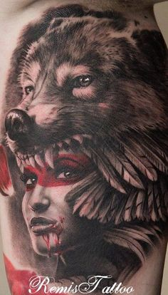 Wolf headdress tattoo girl - 25+ Native American Tattoo Designs <3 <3: