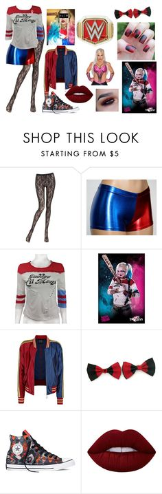 """Elle Rollins Vs. Dana Brooke in a Halloween night match"" by fashionbabe-1738 ❤ liked on Polyvore featuring La Perla, Converse and Lime Crime"
