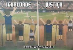 Igualdade ou Justiça   De que lado você fica agora ?