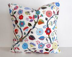18x18, Bright Flowers Decorative Pillow Cover, Pillow case for Throw Pillows, Accent Pillows, Floor Cushions  $18