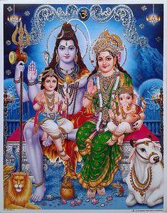 This is the consummate family to me: Shiva, Parvati, their sons, Ganesha and Kartikeya Shiva Parvati Images, Shiva Hindu, Shiva Art, Hindu Deities, Hindu Art, Krishna Radha, Lord Shiva Pics, Lord Shiva Hd Images, Lord Shiva Family