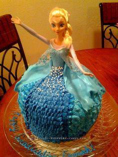Coolest Elsa Dress Cake... Coolest Birthday Cake Ideas