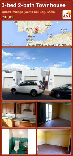 Townhouse for Sale in Torrox, Malaga (Costa Del Sol), Spain with 3 bedrooms, 2 bathrooms - A Spanish Life Murcia, Independent Kitchen, Window Bars, Fitted Bathroom, Mountain View, Townhouse, Terrace, Patio, Bed