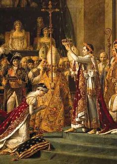 majestic (huge) painting of the Coronation of Napoleon--- The Louvre, Paris, France. Ste Claire, Napoleon Josephine, Jean Leon, Pope Leo, Tudor Dynasty, Monkey Doll, Louvre Paris, French History, Heart Of Jesus