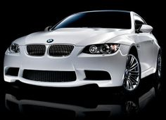 White BMW. Luxury, amazing, fast, dream, beautiful,awesome, expensive, exclusive car. Coche blanco lujoso, increible, rápido, guapo, fantástico, caro, exclusivo.