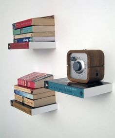 """Invisible book shelves called """"Selfshelf"""" by Dutch by Design."""