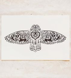 Gorgeous. :: Owl Flying Print by Little Gold Fox Designs