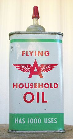 Flying A Household Oil Can, 1950's