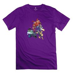 Man Big Hero 6 Team Custom Retro Black Tee Shirts By Mjensen