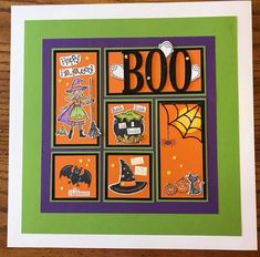 Halloween Cards, Fall Halloween, Shadow Box, Mini Albums, Framed Art, Stampin Up, Artsy, Collage, Paper Crafts