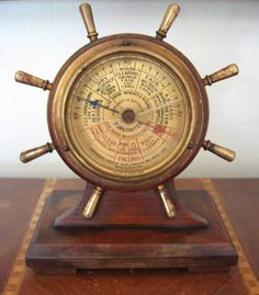 1930 Abercrombie & Fitch Ship's Wheel Barometer