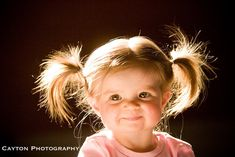 little girls with quirky pigtails make me smile