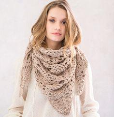 Modèle chèche beige au crochet Aviso - Modèles Femme - Phildar