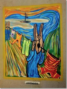 This is not the greatest art in the world, no. to The Scream by Edvard Munch Edvard Munch, Le Cri Munch, Scream Parody, Pop Art, Arte Do Harry Potter, Appropriation Art, Mandala Doodle, Popular Paintings, Expressionist Artists
