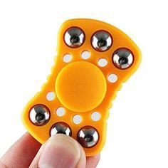 2017 Fidget Spinner EDC Focus ToySKYLE Hand Spinner Useful for ADHDADDAutismExtra Ball Bearings for Added Balance & Fidget/Stress/ADHD/Anxiety ReliefBoredom Spins for up to 1-3 Minutes Orange