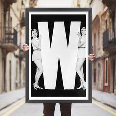 Placa decorativa W - StickDecor | Decoração Criativa