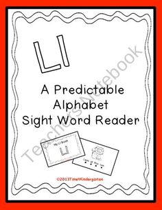 Predictable Alphabet Sight Word Reader Ll product from Time-4-Kindergarten on TeachersNotebook.com