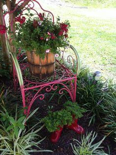 My own junk garden 2013. Love it!