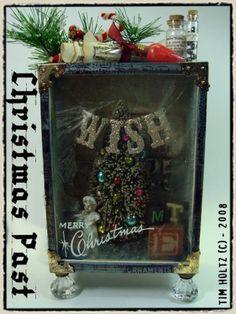 Tim Holtz Christmas Past assemblage