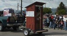 Outhouse display at the Montana Republican Convention.