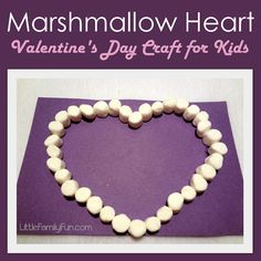 Fun, easy, and tasty Valentine's Day craft for kids! ♥