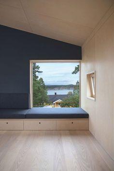 Architecture Details, Interior Architecture, Architecture Portfolio, Plywood Interior, Living Room Seating, Wood Interiors, Bay Window, Home Interior Design, Future House